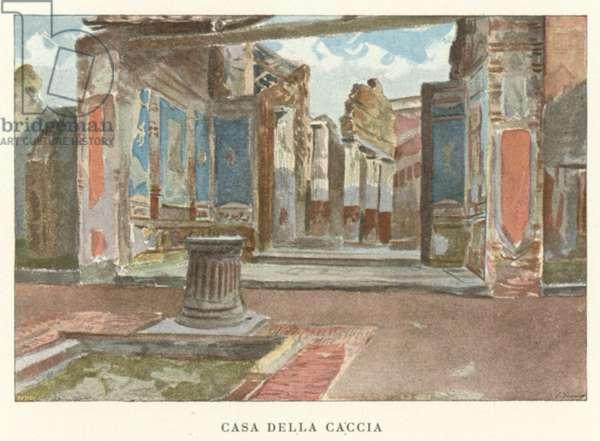 Casa Della Caccia (colour litho)