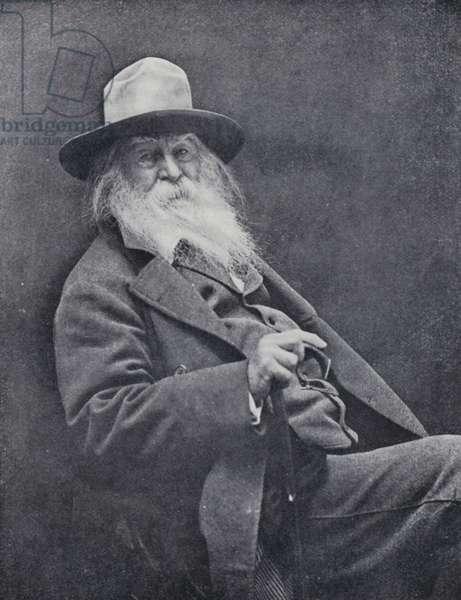 Walt Whitman (b/w photo)