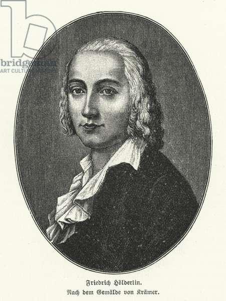 Friedrich Holderlin, German poet and philosopher (litho)