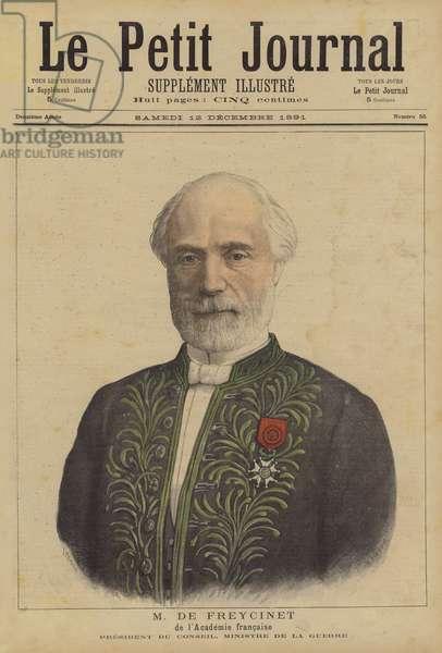 Charles de Freycinet of the Academie Francaise (colour litho)