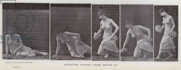 The Human Figure in Motion: Selected phases from series 56 (b/w photo)