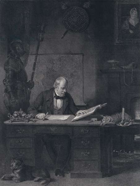 Sir Walter Scott in his Study (engraving)