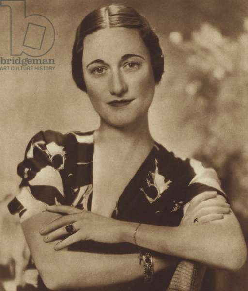 Mrs Wallis Simpson, A Studio Portrait (b/w photo)