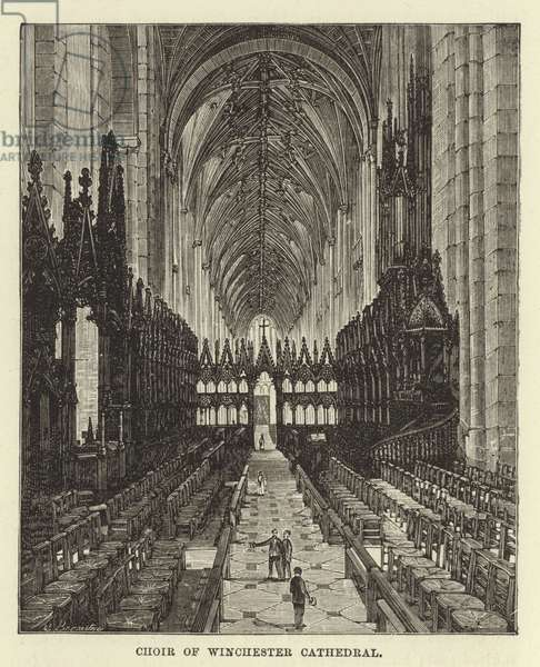 Choir of Winchester Cathedral (engraving)