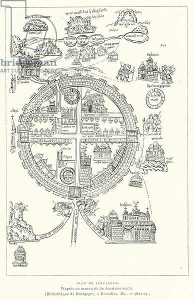 Plan De Jerusalem (engraving)