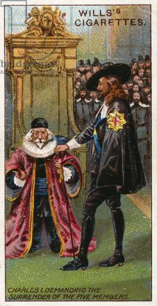 Charles I demanding the surrender of the five members