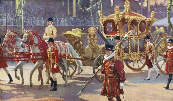 Coronation of King George VI in 1937 (colour litho)