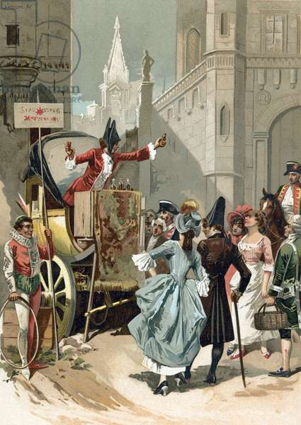 Charlatans outside the Louvre during the French Revolution