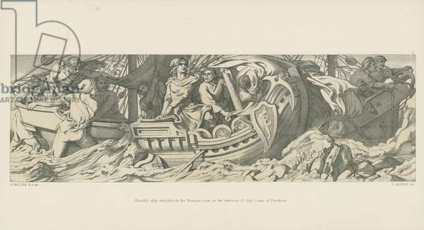 Harold's Ship Stranded on the Norman Coast, in the Territory of Guy, Count of Ponthieu