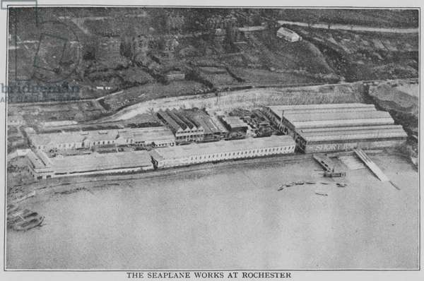 The Seaplane Works at Rochester (b/w photo)