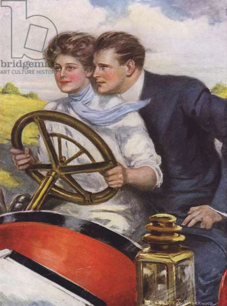 Love and six cylinders (colour litho)