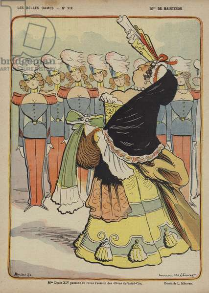 Madame De Maintenon, Illustration for Le Rire (colour litho)