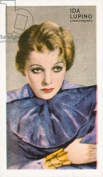Ida Lupino (colour litho)