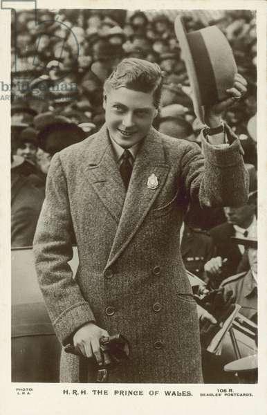Prince of Wales, the future King Edward VIII (b/w photo)