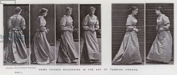 The Human Figure in Motion: Some phases occurring in the act of turning around (b/w photo)