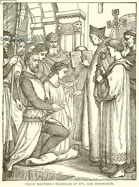 Celtic Manners.--Marriage of Eva and Strongbow (engraving)