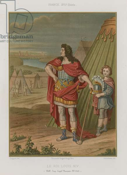 King Louis XIV of France (chromolitho)