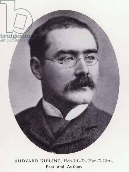Prominent Men of London: Rudyard Kipling (b/w photo)