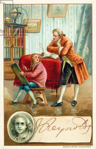 Sir Joshua Reynolds, English painter (chromolitho)