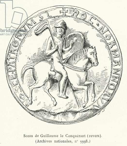 Sceau de Guillaume le Conquerant, revers (engraving)