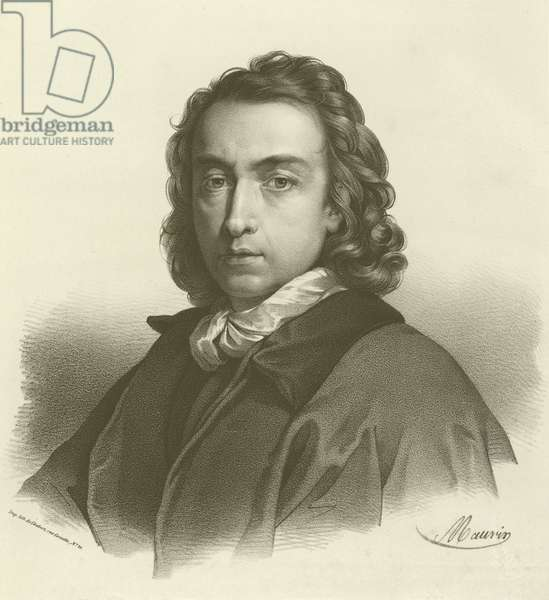 Anton Raphael Mengs, German artist (engraving)