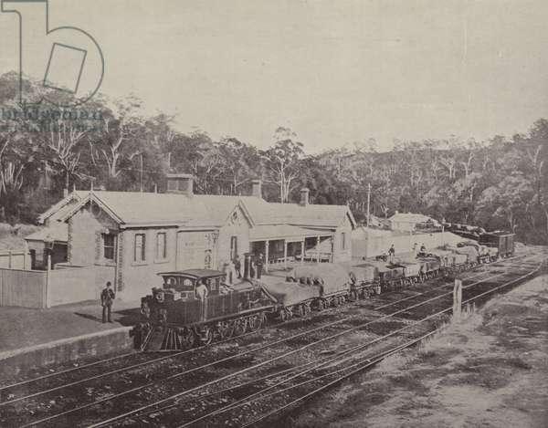 Mount Lofty Railway Station, Adelaide to Melbourne Railway (b/w photo)