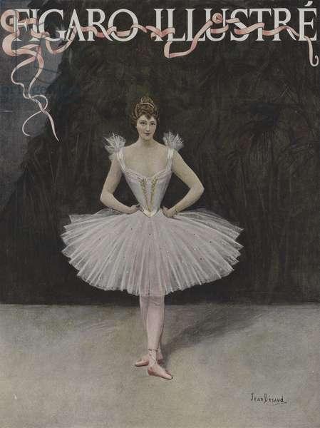 La Danseuse (The Dancer). Cover of Le Figaro Illustre, February 1895 (colour litho)