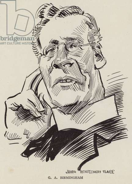George A Birmingham, Irish clergyman and writer (litho)