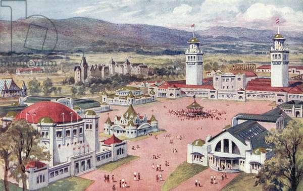 Scottish National Exhibition, Edinburgh, 1908 (colour litho)