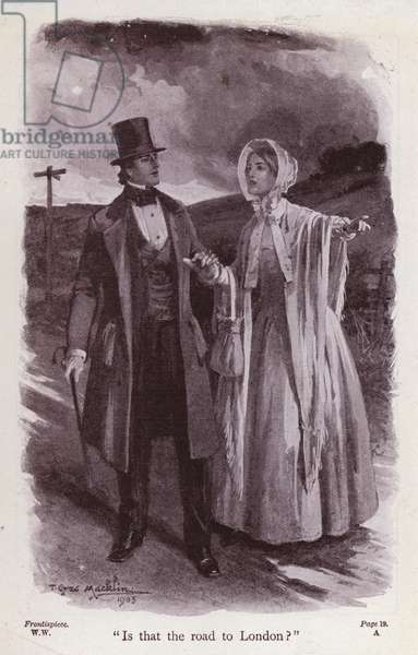 Illustration for The Woman In White by Wilkie Collins (litho)
