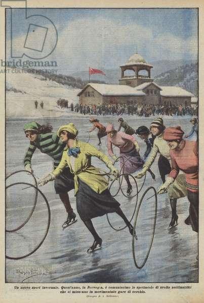 Un nuovo sport invernale (colour litho)