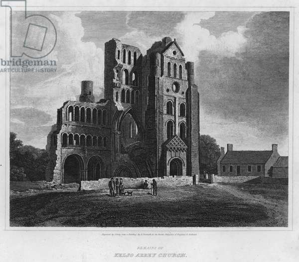 Remains of Kelso Abbey Church (engraving)