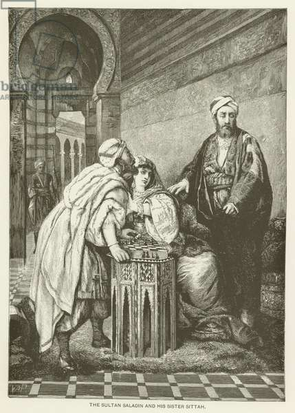 The Sultan Saladin and his sister Sittah (engraving)