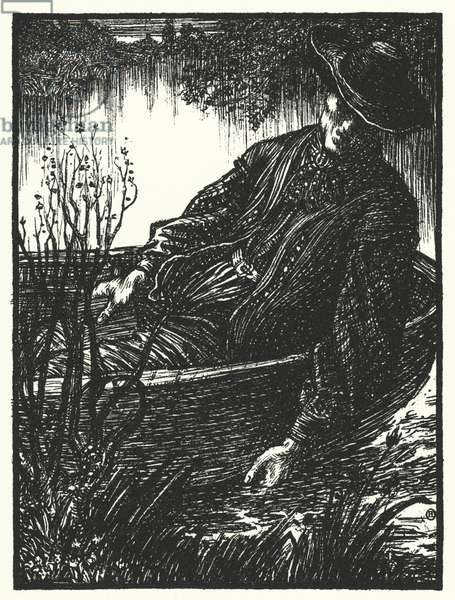 Matthew Arnold poem: The Scholar Gipsy (engraving)
