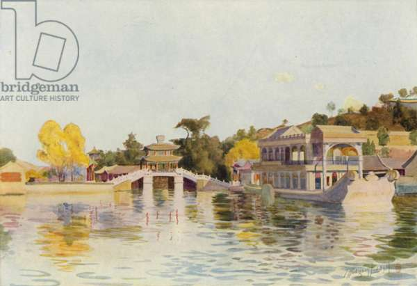 Peking, the Marble Junk (colour litho)