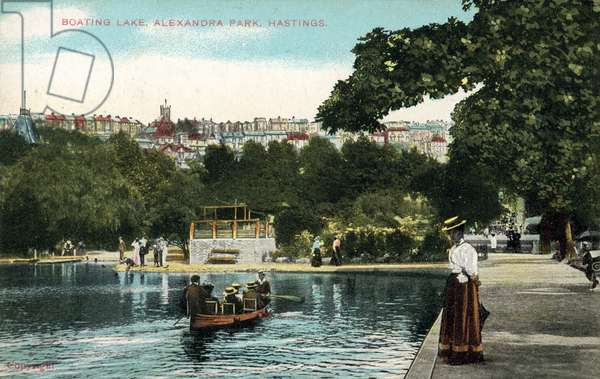 Boating Lake, Alexandra Park, Hastings (colour photo)