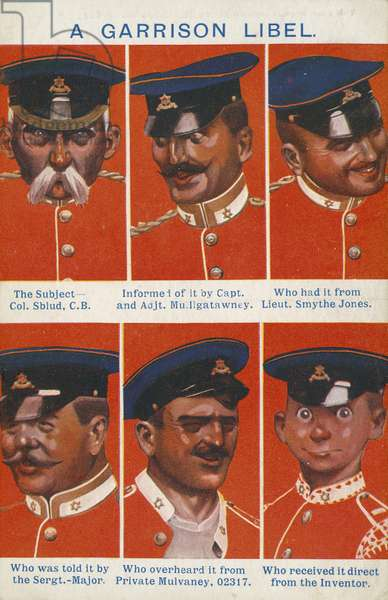 A garrison libel (colour litho)