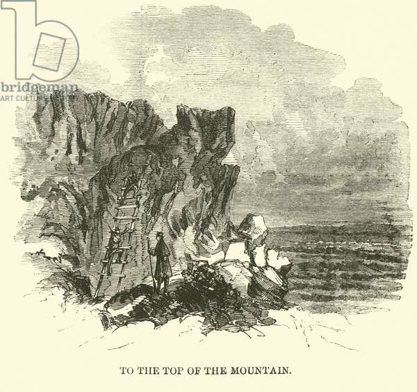 To the top of the mountain, November 1863 (engraving)