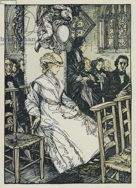 Illustration for Tennyson's Maud (colour litho)