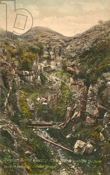 Haytor, Stone Quarry - Supplied stone used for the building of London Bridge (colour photo)