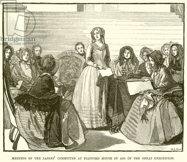 Meeting of the Ladies' Committee at Stafford House in Aid of the Great Exhibition (engraving)