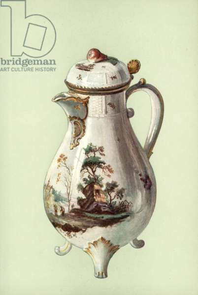 Coffee-pot, Ludwigsburg (colour litho)