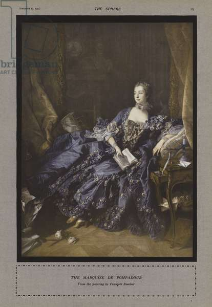 The Marquise de Pompadour (colour litho)