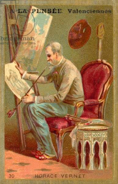 Horace Vernet, French artist (chromolitho)