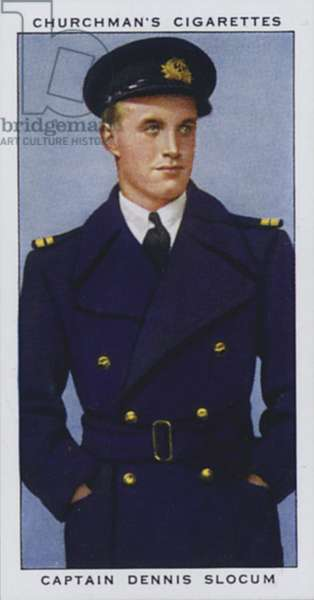 Captain Dennis Slocum, British Airways Pilot (colour litho)