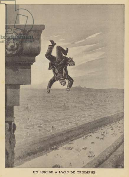 Suicide at the Arc de Triomphe (litho)