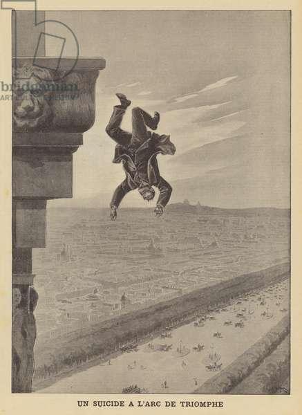 Suicide at the Arc de Triomphe (litho)