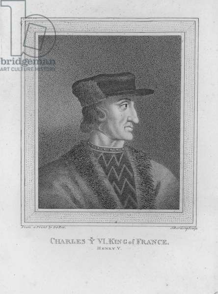 Charles the VI, King of France (engraving)