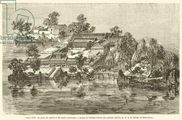 Palais d'ete, Le palais des genies et des pierres precieuses (engraving)
