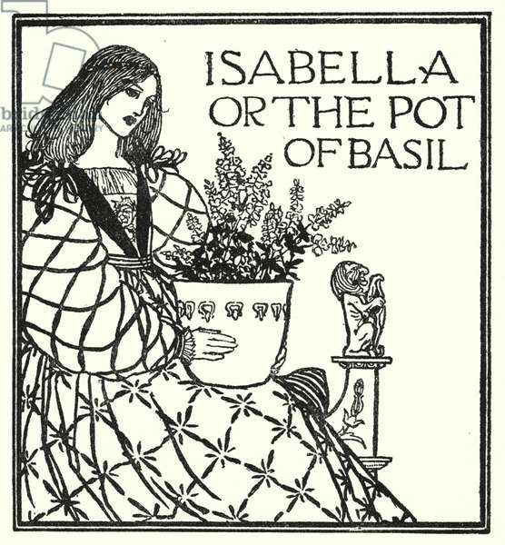 Illustration for Poems by John Keats: Isabella or The Pot of Basil (litho)